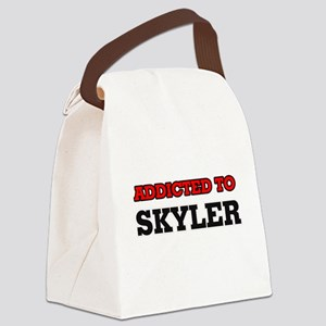 Addicted to Skyler Canvas Lunch Bag