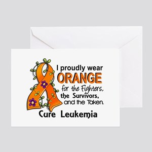 Orange For Fighters Survivors Taken Greeting Card