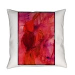 Pink Leaves Everyday Pillow