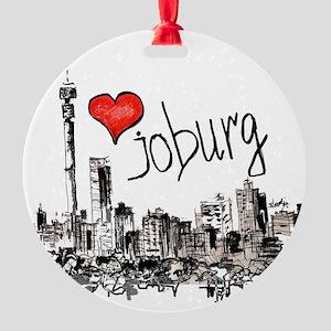 I love Joburg Round Ornament
