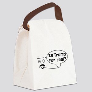 Is Trump For real? Canvas Lunch Bag