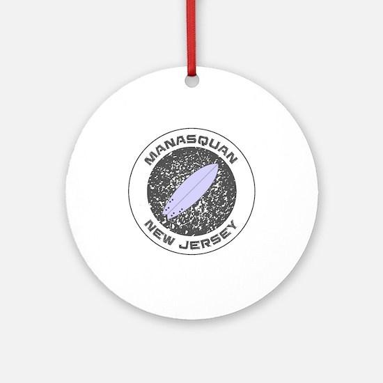 New Jersey - Manasquan Round Ornament