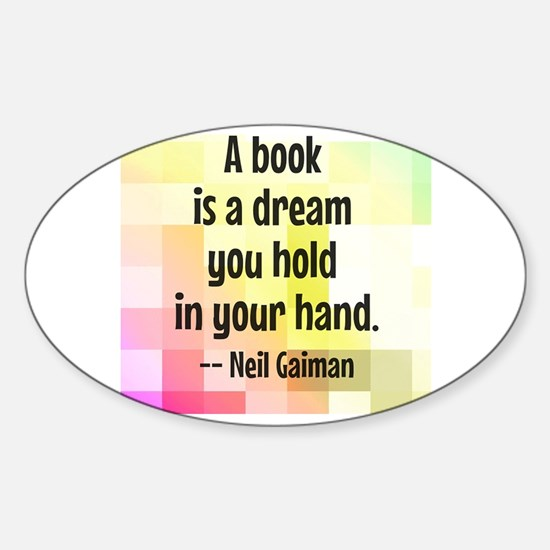 Cute Book Sticker (Oval)