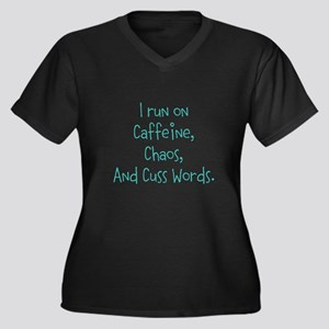 I run on Cafeine Plus Size T-Shirt