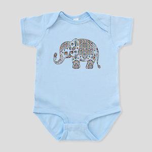 Colorful paisley Cute Elephant Illustrat Body Suit