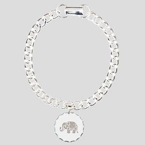 Colorful paisley Cute El Charm Bracelet, One Charm