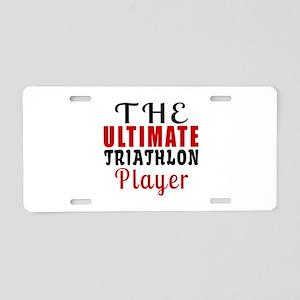 The Ultimate Triathlon Play Aluminum License Plate