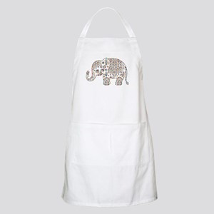 Colorful paisley Cute Elephant Illustration Apron
