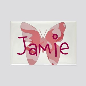 camo butterfly : name personalize, initials Magnet