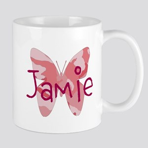 camo butterfly : name personalize, initials Mugs