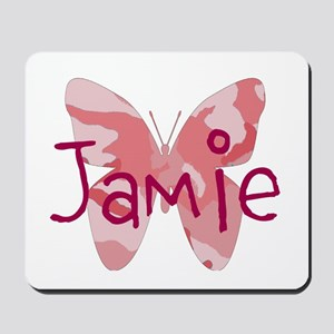 camo butterfly : name personalize, initials Mousep