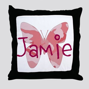 camo butterfly : name personalize, initials Throw