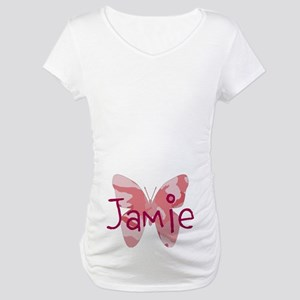 Camo Butterfly : Name Maternity T-Shirt