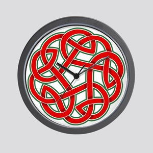 Celtic Christmas Knot Wall Clock