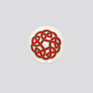 Celtic Christmas Knot Mini Button