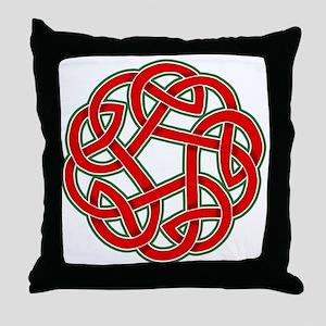 Celtic Christmas Knot Throw Pillow
