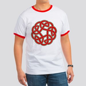 Celtic Christmas Knot Ringer T
