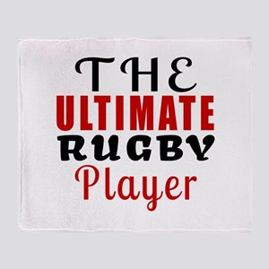 The Ultimate Rugby Player Throw Blanket