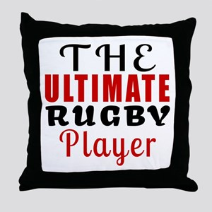 The Ultimate Rugby Player Throw Pillow