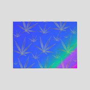 cannabis 5'x7'Area Rug