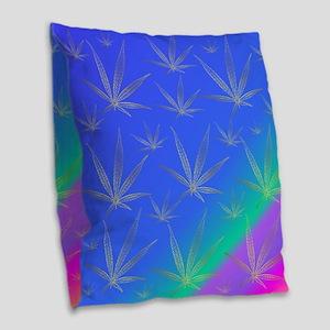 cannabis Burlap Throw Pillow