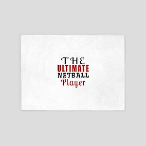 The Ultimate Netball Player 5'x7'Area Rug