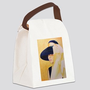 audrey, gold Canvas Lunch Bag
