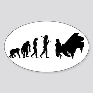 Concert Pianist Sticker (Oval)
