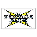 Boltzilla Plays Sticker (rectangle)