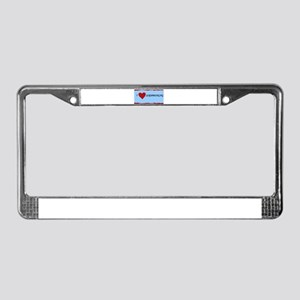 I LOVE SCRAPBOOKING License Plate Frame