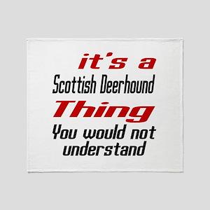 Scottish Deerhound Thing Dog Designs Throw Blanket