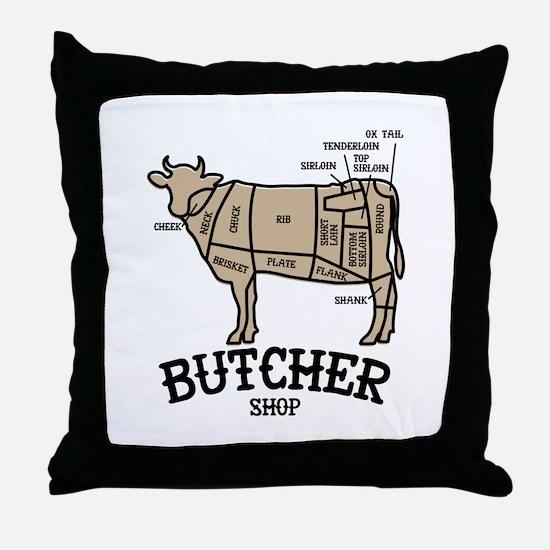 Butcher Beef Throw Pillow