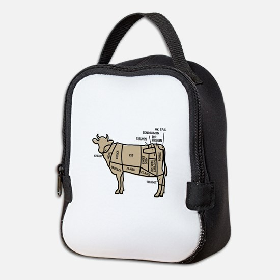 Beef Cuts Neoprene Lunch Bag