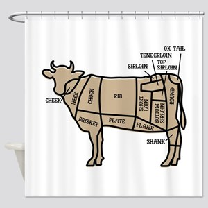 Beef Cuts Shower Curtain