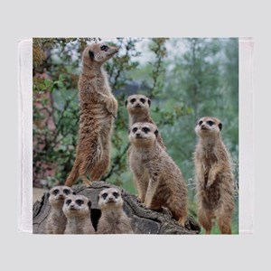 Meerkat010 Throw Blanket