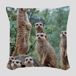 Meerkat010 Woven Throw Pillow