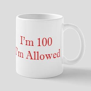100 I'm Allowed 3 Red Mugs