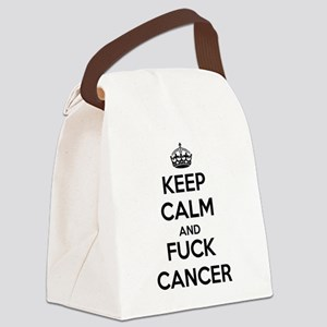 Keep Calm and Fuck Cancer Canvas Lunch Bag