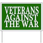 Veterans Against the War Yard Sign (green)