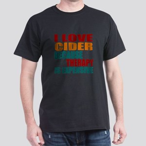 Drink Cider Is My Therapy Dark T-Shirt