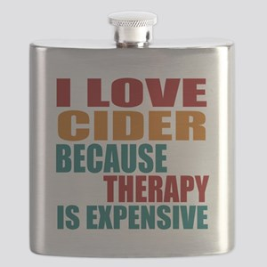 Drink Cider Is My Therapy Flask