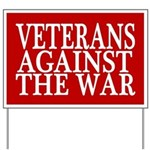 Veterans Against The War Yard Sign (red)