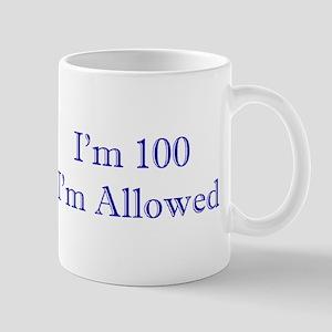 100 I'm Allowed 3 Dk Blue Mugs