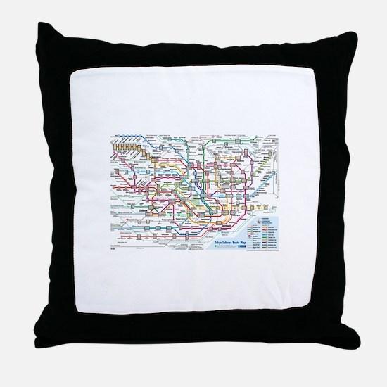 Cute Metro Throw Pillow