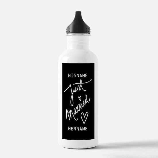 Just Married Wedding A Water Bottle