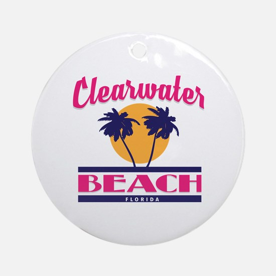 Cute Clearwater Round Ornament