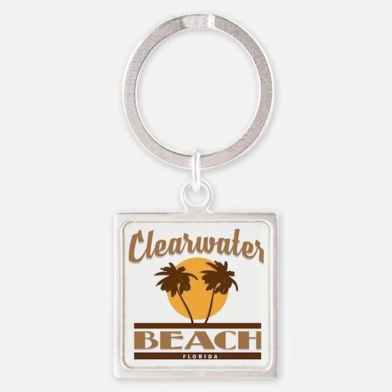 Unique Florida souvenirs Square Keychain