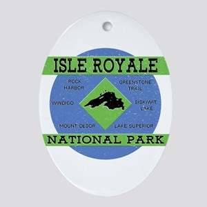 Isle Royale Lake Superior National P Oval Ornament