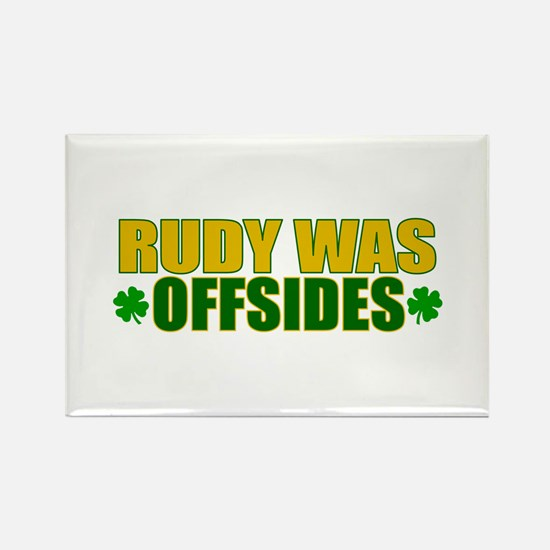Rudy Offsides (2) Rectangle Magnet