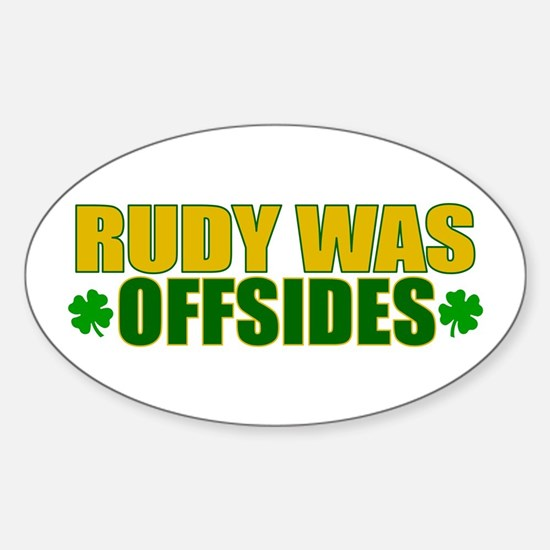 Rudy Offsides (2) Oval Decal